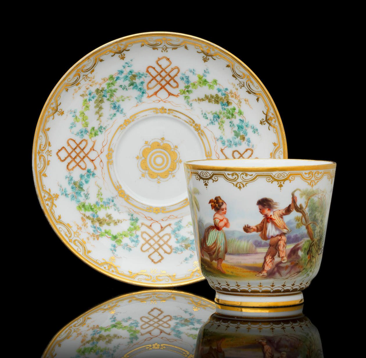 Russian Porcelain Cups and Saucers Price Guide - Antique
